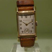 Bulova vintage fifties rectangular meca gold 14 ct cal 7AK