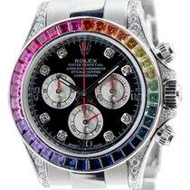 Rolex Cosmograph Daytona in Steel with Rainbow Diamond Bezel...