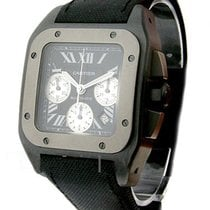 Cartier W2020005 Santos 100 XL Chronograph - Titanium on Strap...