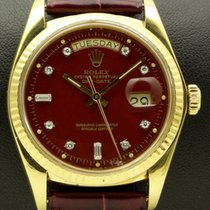 Rolex Day Date Lacquered Stella Burgundy Diamond Dial