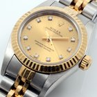 Rolex 24mm TT Oyster Perpetual Factory Diam w/ Box & Papers