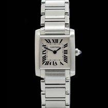 Cartier Tank Francaise -Lady- Ref.: 2300 - Edelstahl - Quartz...