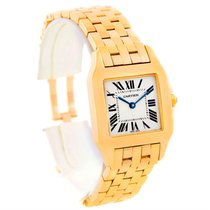 Cartier Santos Demoiselle Midsize 18k Yellow Gold Watch W25062x9
