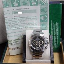 Rolex Daytona 16520 Chronograph Black  Zenith Stainless Steel