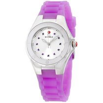 Michele Jellybean Stainless Steel Purple Topaz Stones Women&#3...
