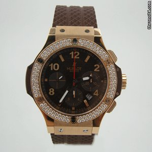 Hublot CAPPUCCiNO ROSE GOLD DiAMOND BEZEL 44 mm