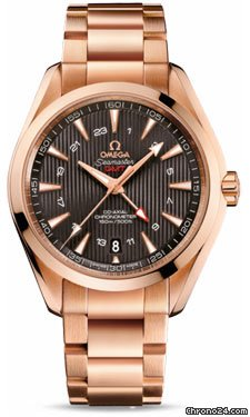 Omega Seamaster Aqua Terra 150 M Co-Axial GMT 43 mm - Red Gold