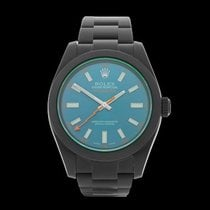 Rolex Milgauss ADLC coated stainless steel Gents 116400GV