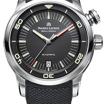 Maurice Lacroix Pontos S Diver, Date, Rubber and Calfskin...