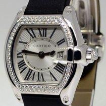 Cartier Roadster 18k White Gold Diamonds Ladies Watch Box/Pape...