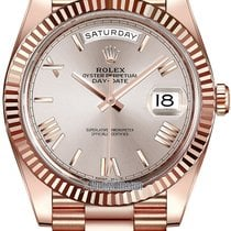 Rolex Day-Date 40mm Everose Gold 228235 Sundust Roman