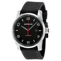 Montblanc Timewalker Urban Automatic Black Dial Black Leather...