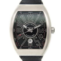 Franck Muller New  Vanguard Stainless Steel Black Automatic V...
