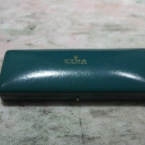 Cyma vintage green watch  box very nice condition newoldstock