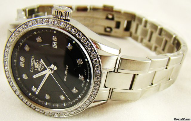 TAG Heuer CARRERA LADIES AUTOMATIC DIAMOND BLACK WATCH