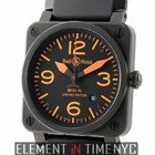 Bell & Ross Aviation PVD Coated Steel Orange Accents...