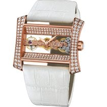 Corum Golden Bridge Lady Rose Gold Factory Diamond Watch