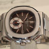 Patek Philippe nautilus chronograph box papers black dial - crono