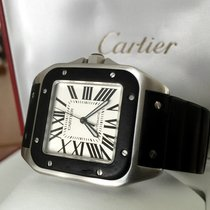 Cartier Santos 100 XL Steel Roman Dial 52 x 40 mm (Full Set 2010)