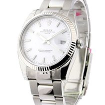 Rolex Unworn 115234 Mens Steel Datejust with Withe Gold Fluted...