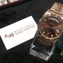 Rolex 118235A DAYDATE CHOCO 8 DIAMONDS 2 RUBIES