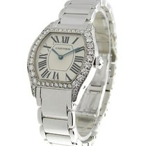 Cartier WA5072W9 Tortue Small Size wth Diamond Bezel on...