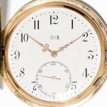 L.U.C Chopard fine 14 Kt Gold very large 53 mm pocket watch