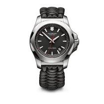 Victorinox Swiss Army I.N.O.X. black dial, paracord survival...