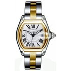 Cartier Roadster Mens' Automatic Watch Two Tone Silver Dial