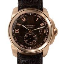 Cartier Calibre De Cartier 18k Rose Gold Brown Automatic W7100007