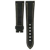 IWC Breguet-alligator Black And White Stiched Strap