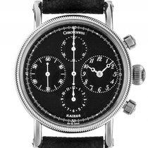 Chronoswiss Kairos Chronograph Stahl Automatik Armband Leder...