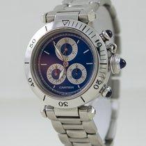 Cartier PASHA CHRONOREFLEX STEEL BLUE DIAL