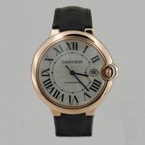 Cartier BALLON BLEU ROSE GOLD & LEATHER LARGE SiZE 42mm