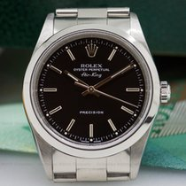 Rolex 14000M Air King Black Dial SS (25438)