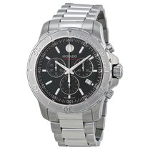 Movado Series 800 Chronograph Black Dial Mens Watch 2600110