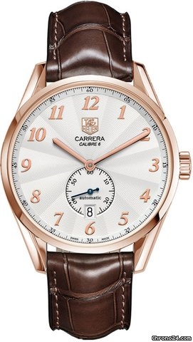 TAG Heuer Carrera Heritage Silver Dial Brown Leather Automatic Mens Watch WAS2140.FC8176   Write a Review