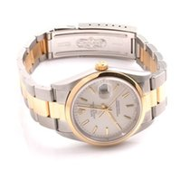 Rolex 18K/SS Date - Silver Dial - Oyster Band 15203