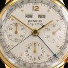 Benrus Sky Chief Datora Valjoux 72 C  14 Kt Gold