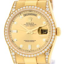 Rolex [NEW] Day Date President 118388 A Champagne YG Diamond