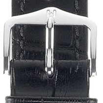 Hirsch Duke Lederarmband schwarz XL 01028250-2-20 20mm