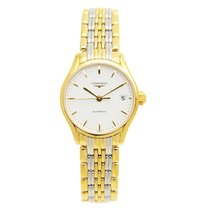 Longines Lyre Pvd Gold White Automatic L4.360.2.12.7