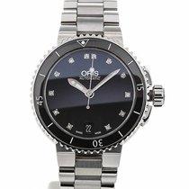 Oris Aquis 36 Gemstone Black Dial