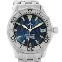 Omega Seamaster Midsize Steel Blue Dial Watch 2554.80.00 Box...