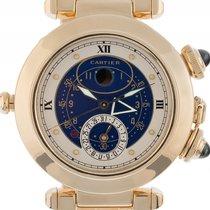 Cartier Pasha Moon Date Alarm 18kt Gelbgold Quarz Armband...
