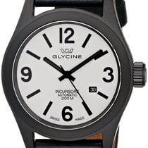 Glycine Incursore Automatic Black PVD Steel Mens Strap Swiss...