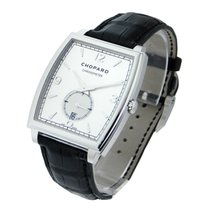 Chopard 162294-1001 L.U.C. XP Tonneau in White Gold - on Black...