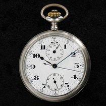 ( TAG-HEUER ) - Leonidas Taschenchronograph 800er Silber