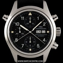 IWC S/S Black Dial Split Second Doppelchronograph IW371333