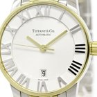 Tiffany Atlas Dome 18k Gold Steel Watch Z1830.68.15a21a00a...